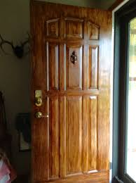 how to paint a plain white door to look like wood doors woods