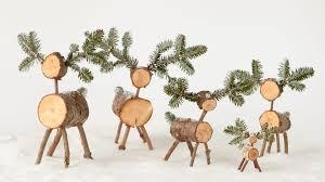 log reindeer log craft ideas