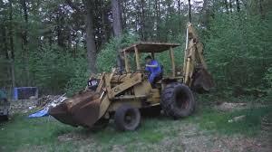 backhoe loader tractor case 680ck 680 ck construction king youtube