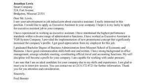 executive administrative assistant cover letter sample executive
