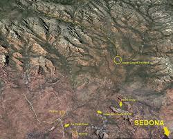 Sedona Map Secret Canyon Trail Deep Canyon Update Sedona Arizona Arizona