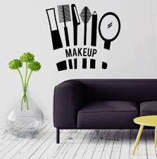 popular salon beautiful buy cheap lots from china wall decal makeup cosmetics beauty salon stylist for girl vinyl sticker china mainland
