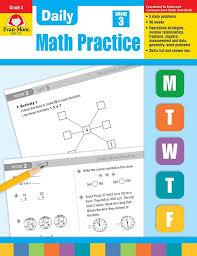 amazon com daily math practice grade 3 0433599268856 evan