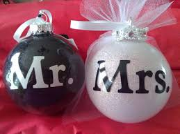 personalized glass glittered ornaments 4 wedding bridel his hers