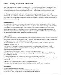Quality Assurance Specialist Resume Contract Specialist Resume Template Billybullock Us