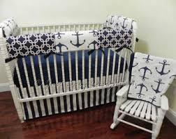 navy crib bedding etsy