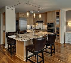 Small Kitchen Islands Contemporary Small Kitchens Grey Island With Extended Dining Table
