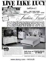 1960 Bedroom Furniture by Lucille Ball Actress 1960 Stock Photo Royalty Free Image