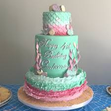 mermaid cakes mermaid the sea birthday cake in pink and light green
