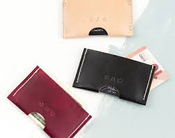 Business Card Case Leather Leather Card Holder Etsy