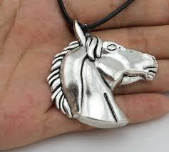 vintage silver pendant necklace images Vintage silver big horse head pendant necklace redhill deals jpg