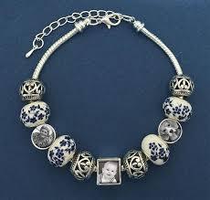 beaded bracelet kit images Country cottage blue european photo bead bracelet kit photo jpeg
