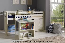 lit combiné bureau enfant lit enfant combiné bureau et rangement theo en pin massif so nuit
