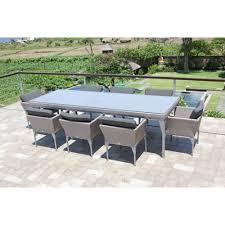 Rattan Patio Dining Set by Skyline Design Brafta Eight Seat Rattan Outdoor Dining Set