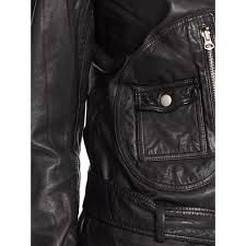 denim motorcycle jacket denim u0026 supply ralph lauren the preston biker jacket in black lyst