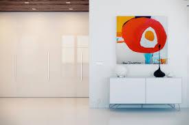Fitted Gloss White Storage Modern Art Interior Design Ideas - Modern art interior design