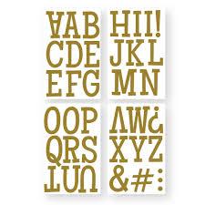 9 306 classic ultra glitter gold letters 3
