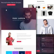 resume website template personal portfolio website template free psd psd