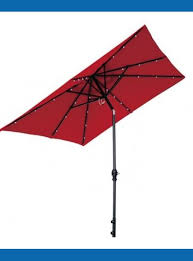 Red Rectangular Patio Umbrella Patio Umbrella With Solar Lights Home Depot Nucleus Home
