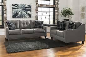 2 piece living room set signature design by ashley brindon charcoal 2 piece living room