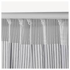 Ikea Curtain Length Gulsporre Curtains 1 Pair White Grey 145x250 Cm Ikea