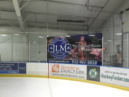 environmental graphics creative color minneapolis minnesota hockey rink glass mural wrap