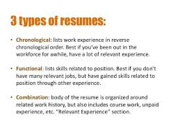 Different Types Of Resume 100 Best Type Of Resume Different Types Of Resumes Free Resume