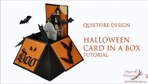 quietfire halloween card in a box tutorial youtube
