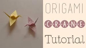 origami crane tutorial youtube