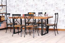 wrought iron wood dining table sets wood and wrought iron dining