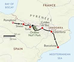 Map Of Morocco And Spain by Across The Pyrenees Itinerary U0026 Map Wilderness Travel