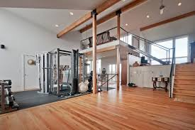 Small Home Gym Ideas Workout Room Flooring The Room Nor Trim The Doors To Compensate