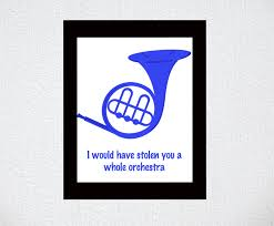 blue clipart horn pencil and in color blue clipart