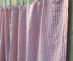 Stripe Shower Curtains White And Red Ticking Stripe Shower Curtain Handcrafted By