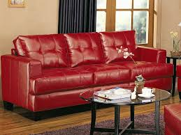 Leather Furniture Red Leather Sofa To Complement A Modern Look Home Design By John