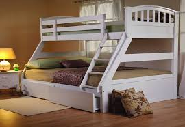Sweet Dreams Epsom White Triple Bunk Bed Solid Wood Underbed - Double bunk beds uk