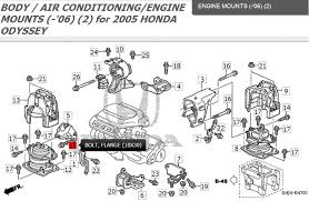 2004 honda odyssey engine mounts 2005 ex l lower half of the side engine mount