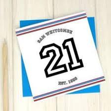 21st birthday age card personalised card sport birthday card