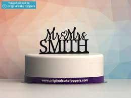 wedding cake name personalised last name engagement and wedding cake topper