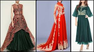 latest party wear dresses indo western style long gown dresses