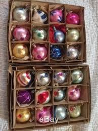 vintage mercury glass poland painted ornaments lot