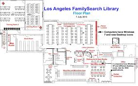 Floor Plan Icons by Los Angeles Familysearch Library Floor Plan