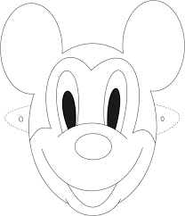 mickey mouse mask printable coloring kids