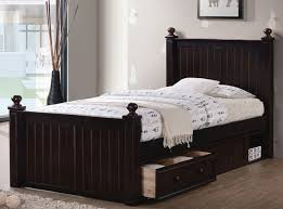 Twin Size Bed Frame With Drawers Dillon Extra Long Twin Wood Bead Board Bed Xl Beds
