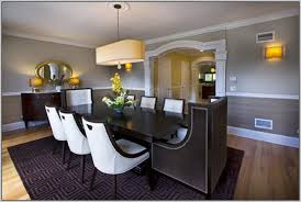 Dining Room Paint Ideas Two Color Dining Room With Rail Barclaydouglas