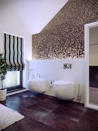 Wood Floors In Bathroom by Wonderful Purple Mosaic Tiles Wall Ideas In Contemporary Bathroom