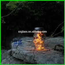 halloween skull solar light jar skull glass solar jar skull solar
