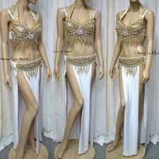 Eevee Halloween Costume White Gold Eevee Gypsy Belly Dancer Rave Bra Cosplay Halloween