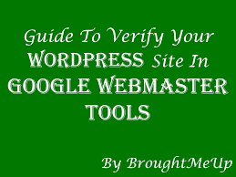webmaster how to add verify wordpress site in google webmaster tools