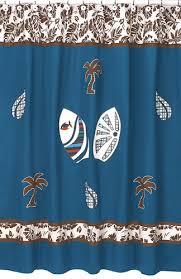 Hawaiian Curtain Fabric Tropical Hawaiian Kids Bathroom Fabric Bath Surfboard Shower